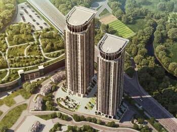 Высота домов 39 этажей